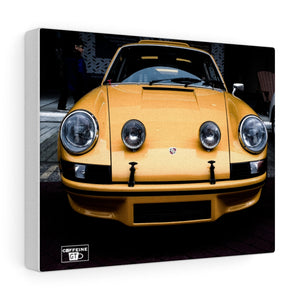 CAFFEINE GT 930 PORSCHE (YELLOW) Canvas Gallery Print