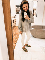 Covered In Cozy Top - Heather Grey