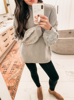 Cozy Travels Sweater - Grey