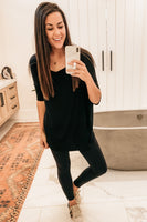 Piko Tunic Top - Black