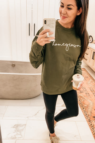 Homegrown Pullover - Olive