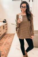 Piko Stripe Top - Tan