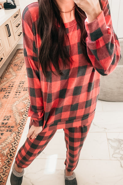 Good Or Plaid Top - Red Plaid