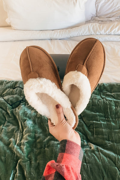 Comfort Is Key Slippers - Tan