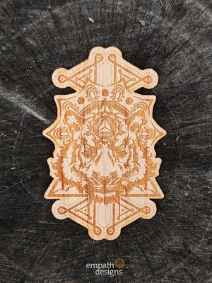 Wood Sticker - Bengal Tiger