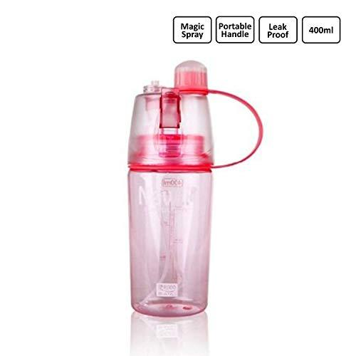 2 in 1 Portable Water Bottle - Drinking and Spray