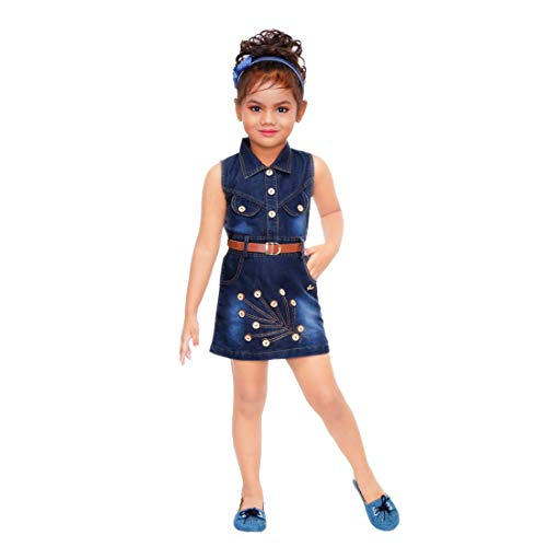 Kids Mandi Floral Kid Girls Dresses, Round Neck Sleeveless Jacket Frock for Summer Wear, Casual Wear
