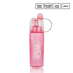 2 in 1 Leak Proof Portable Plastic Drinking and Spray Water Bottle for Outdoor Bicycle Cycling Sports Gym by Kids Mandi™