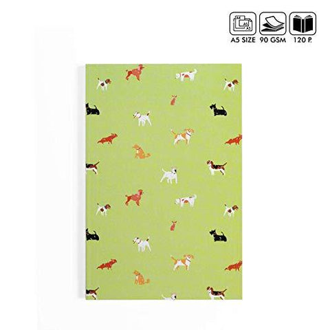 Kids Mandi Dog Lover Ruled A5 Notebook Handmade Paper Diary