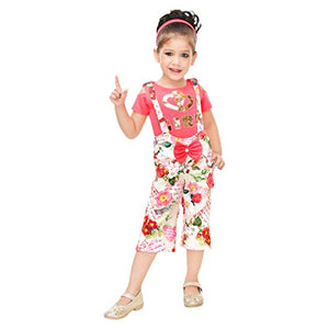 Kids Mandi Floral Kid Girls Dresses, Round Neck Sleeveless Plazo for Summer Wear, Casual Wear