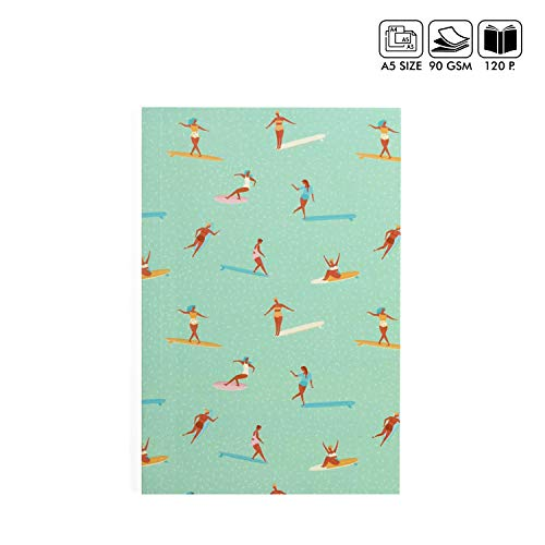 Surfer Ruled A5 Notebook Handmade Paper Diary