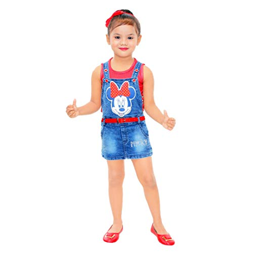Kids Mandi Floral Round Neck Sleeveless Frock  For Girls