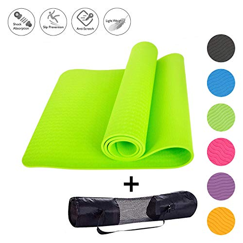 "Home Runner Workout Yoga Mat with Cover Bag | Eco-Friendly, Soft, Non-Slip, Grippy, Yogamat for Yoga, Exercise, Fitness - Suitable for Men & Women - 60""x 24"""