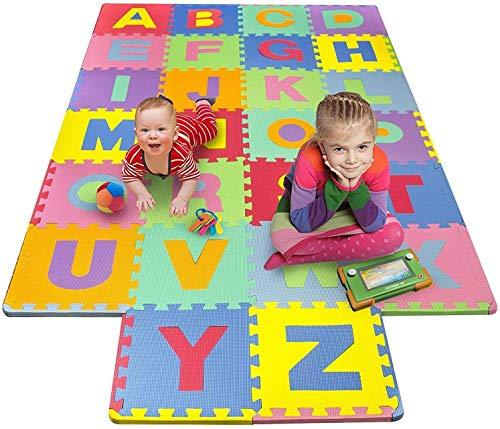 Kids Mandi Eva Puzzle Mat with Interlocking 26 Alphabet Tiles, Learning Educational Floor Mat for Kids (Size Coverage 24 Sq Ft Approx)