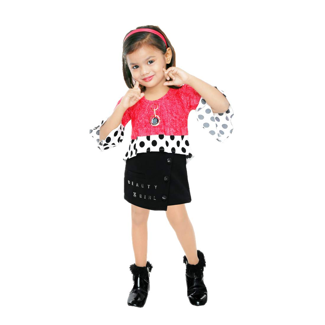 Kids Mandi Floral Kid Girls Dresses, Round Neck Sleeveless Frock for Summer Wear, Casual Wear, Party Wear
