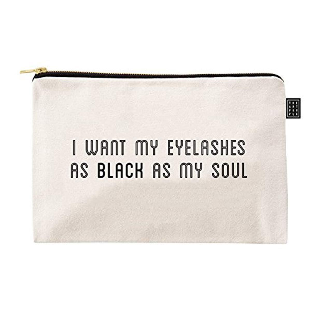 Kids Mandi Canvas Zipper Pouch | Suitable for Cosmetic, Makeup, Student School Art Supplies Organizer, Cute Quote Zip Pouches for Women (My Soul)