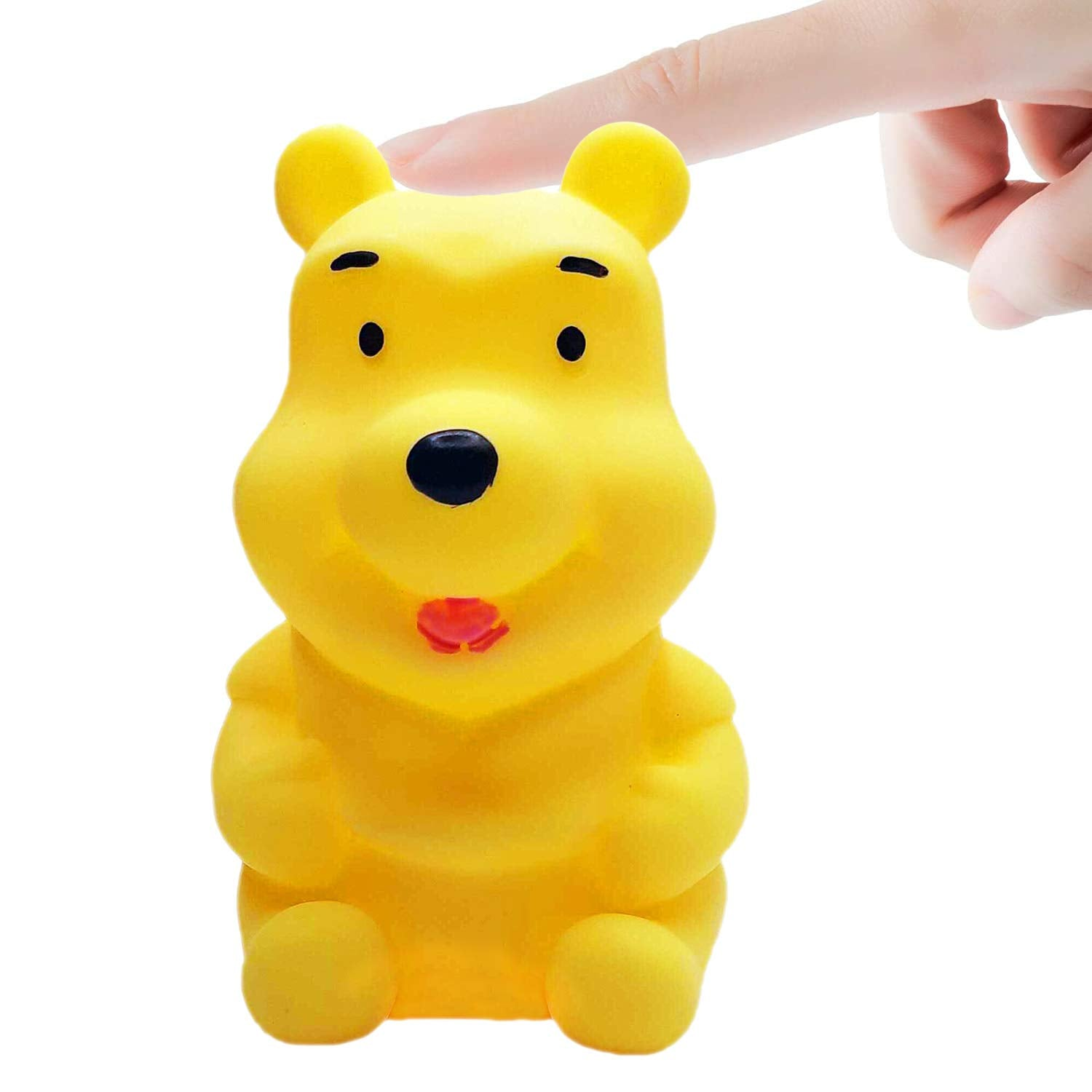 Kids Mandi Night Light Bear Shaped Lamp - Portable LED Soft Touch