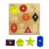 Kids Mandi Wooden Puzzle with Knobs, Educational Learning Wooden Board Tray