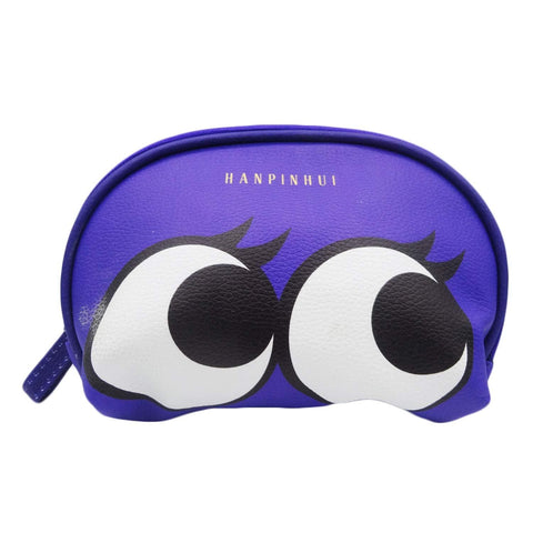 Cosmetic Bag, Small Travel Toiletry Bag - Make Up Organizer for Women and Girls (Purple)