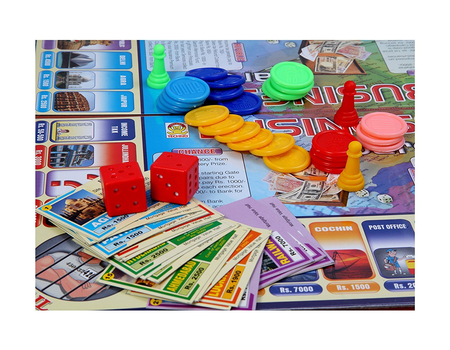 Kids Mandi Techno Business Baron Family Fun Board Game