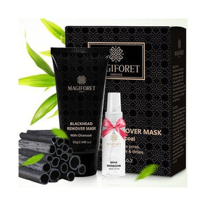 Magiforet Natural Blackhead Remover Mask with Activated Charcoal includes Rose Hydrosol