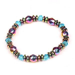 Magnetic Healthcare Bracelet Weight Loss Magnetic Therapy 8mm Round Beads Bracelet