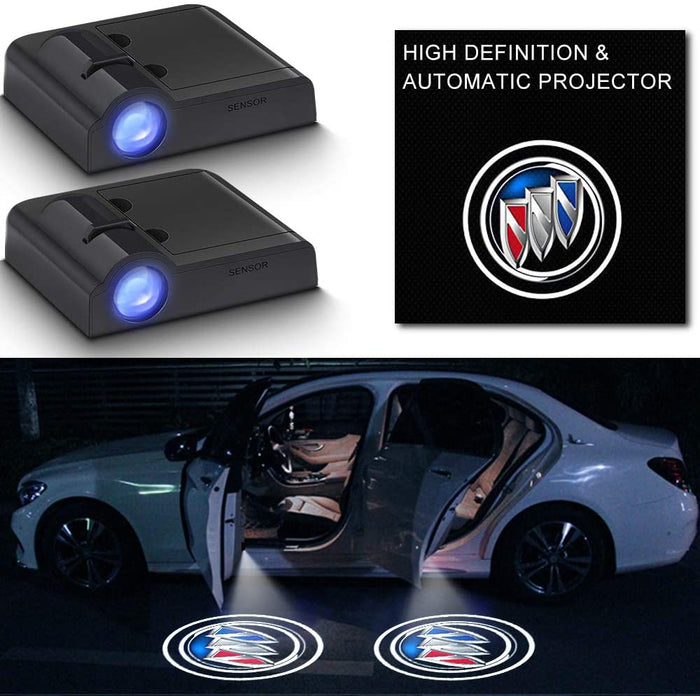 2Pcs Car Door Logo Light Projector for Buick