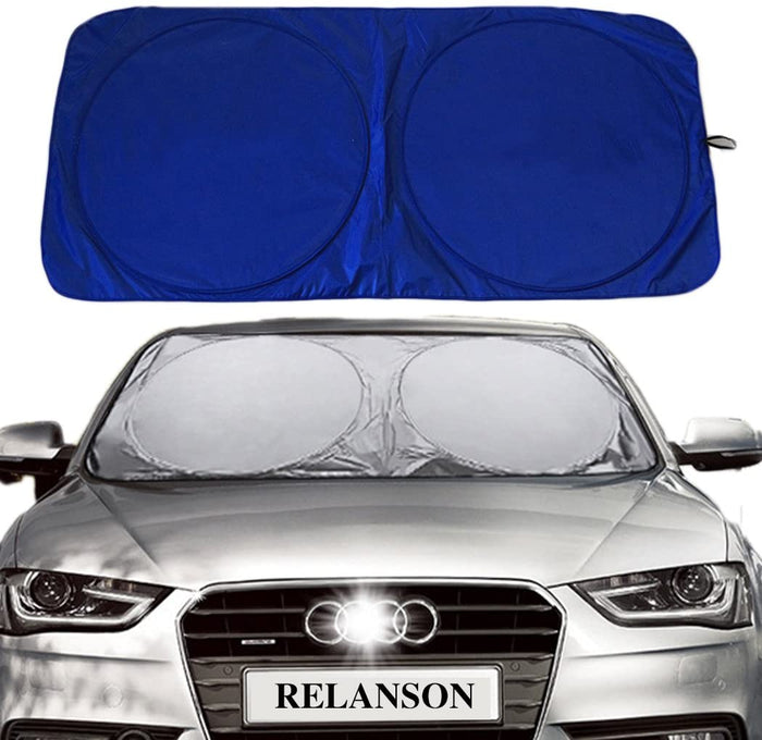 "RELANSON Jumbo Sun Shade for Car Windshield Keeps Vehicle Cool-UV Ray Protector Sunshade(Standard/59"" x 31.5"")"