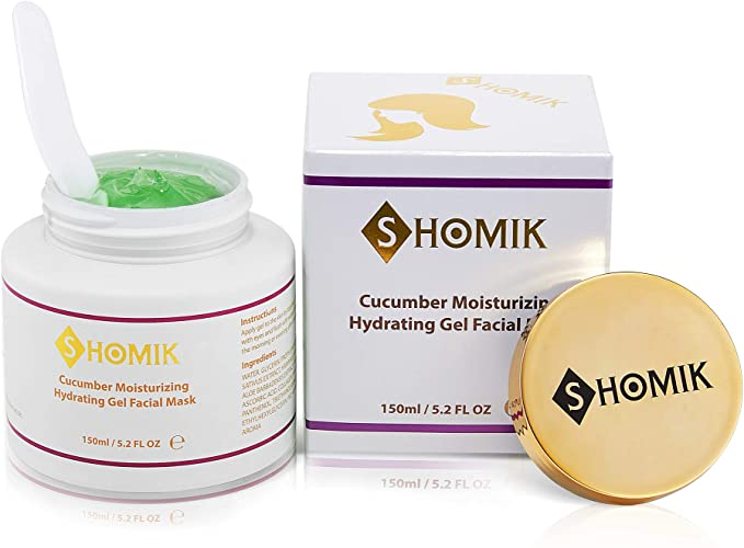 Shomik Cucumber Moisturizing Hydrating Gel for Anti-Aging, Firming and restoring skin elasticity