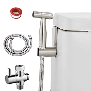 Stainless Steel Handheld Baby Clothes Diaper Sprayer Set, Bathroom Toilet Bidets Sprayer with Hose and Valve, Pet wash Diaper wash