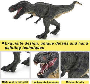 Hautton Dinosaurs Tyrannosaurus Toy Action Figure, Realistic Design Dinosaur Toy Model, Educational Prehistoric Life Replica Toy Gift for Kids Boys Collectors