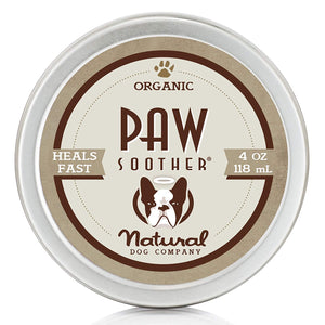 Natural Dog Company Paw Soother - Heals Dry, Cracked, Irritated Dog Paw Pads - 4oz Tin