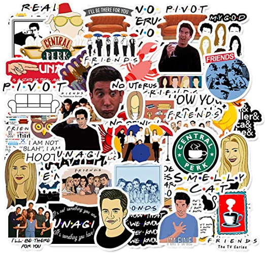 Friends TV Show Theme Stickers Pack of 50 Stickers