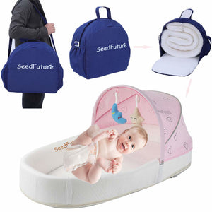 Baby Infant Portable Bedside Bassinet Nursery Travel Bed Bag Side Sleep Lounger Sleeper Cot Newborn Girl