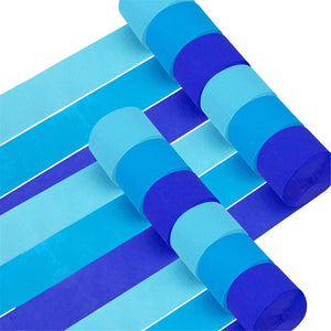 12 Rolls 984ft Baby Blue Crepe Paper Streamers