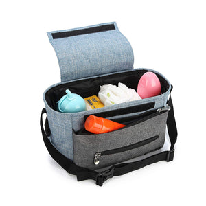 Stroller Organizer Bag - Wirezoll Fits All Baby Stroller Models, with High-Capacity & Adjustable Straps