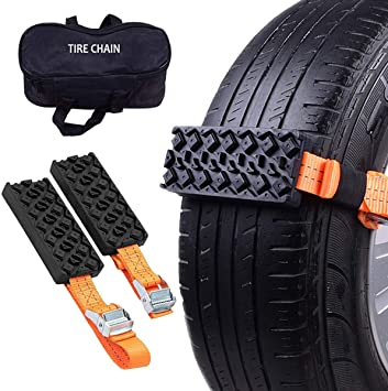 Outzone Anti-Skid Tire Blocks 2PCS Emergency Mud Tire Traction Device for Trucks and SUVs - Get Unstuck Now