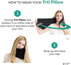 Trtl Pillow - Scientifically Proven Super Soft Neck Support Travel Pillow - Machine Washable