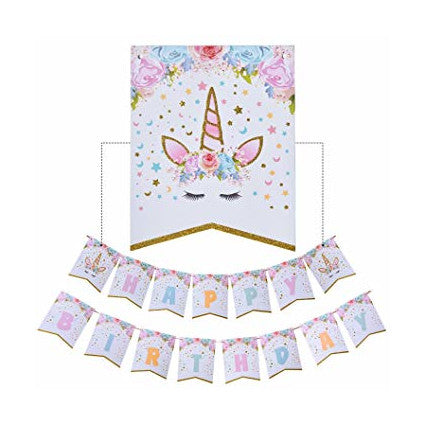 Unicorn Birthday Banner