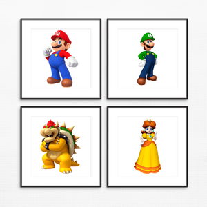 "Mario Characters - Unframed - 8x10"" - $3 Each Print"