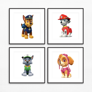 "Paw Patrol Characters - Unframed - 8x10"" - $3 Each Print"