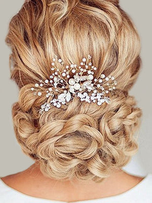 Unicra Wedding Hair Combs Hair Accessories with Bead and Rhinestones