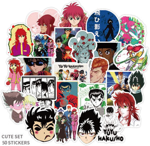 50pcs YuYu Hakusho Anime Stickers