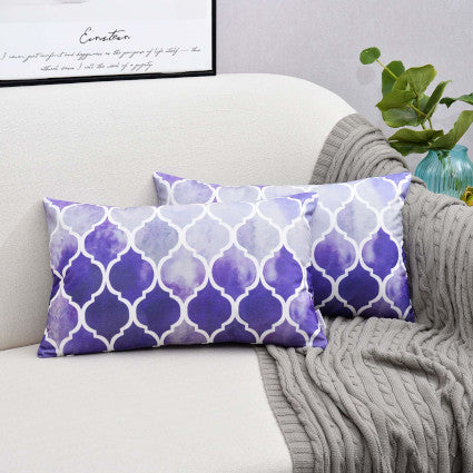 Throw Pillow Covers - Purple/Gray