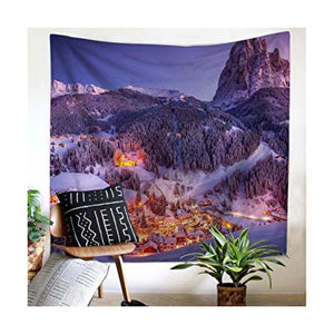 Snow Mountain Forest Tapestry