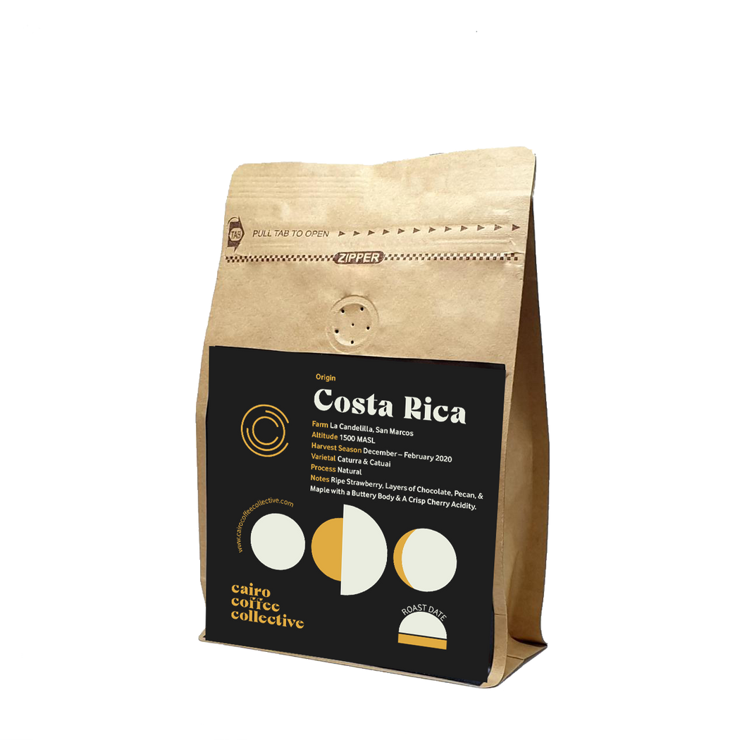 Costa Rica La Candelilla - Notes of Ripe Strawberry, Pecan with Buttery Body