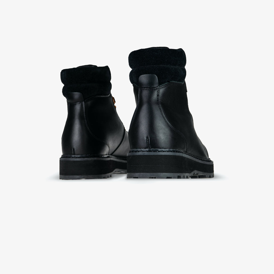 Hiking - Cow Leather / Shearling - Black Black - Woman