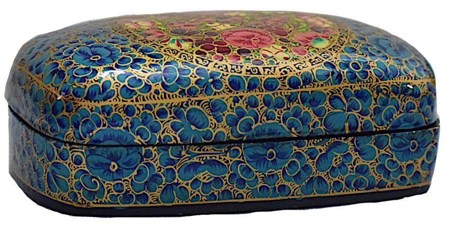IndicHues Decorative Large Paper Mache Rectangular Jewelry Box - IndicHues