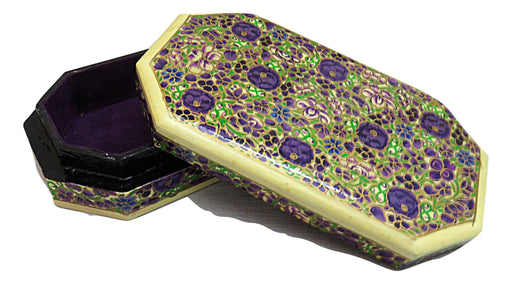 IndicHues Decorative Paper Mache Jewelry Box with Velvet Lining - IndicHues