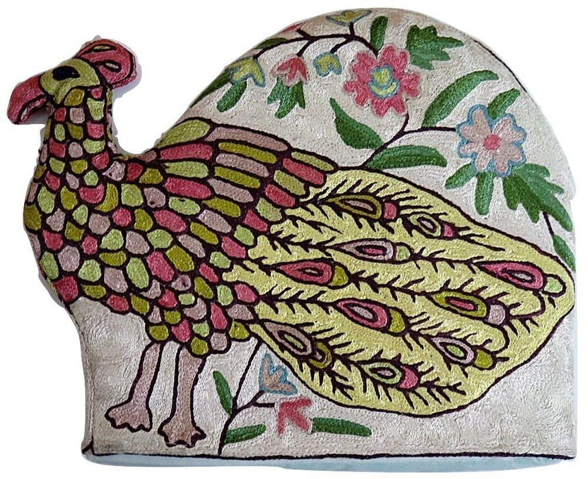 IndicHues Hand Embroidered Tea Cosy for Teapot/ Kettle with Crewel work from Kashmir - IndicHues